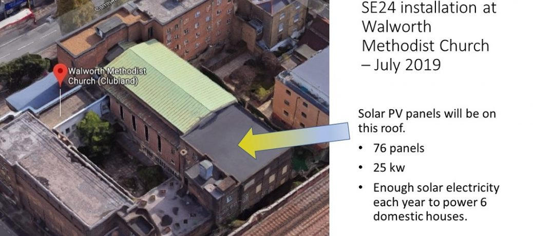 Celebrating the launch of SE24's solar PV installation at Walworth Methodist Church