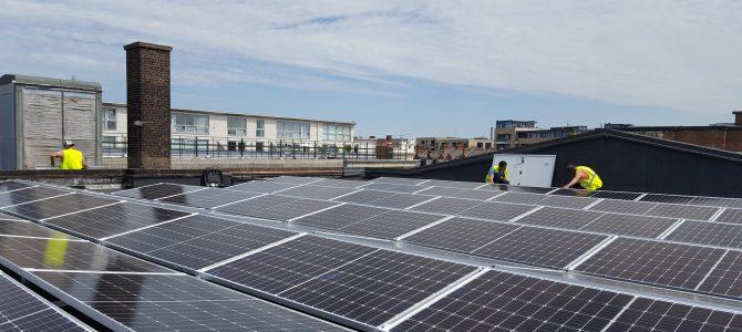 Celebrating the launch of SE24's solar PV installation at Walworth Methodist Church