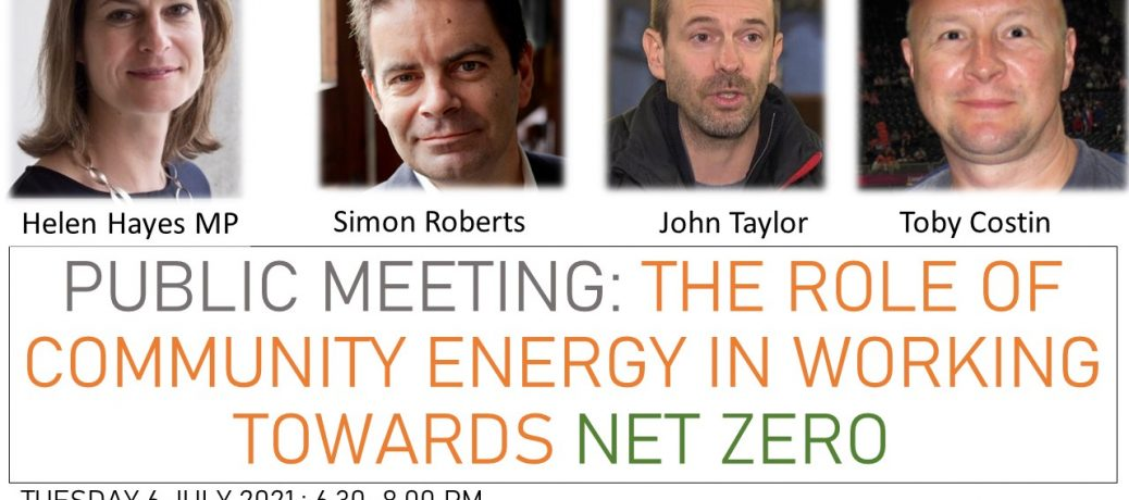 Report on SE24 Public meeting 6 July 2021: The role of community energy in working towards net zero