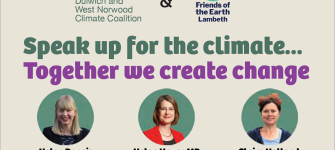Sat 9 Oct 2021 – Speak up for the climate…Together we create change